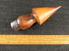 Lignum Vitae Plumbers Turnpin - Garden Dibber Old Hands, Old Antiques, Bushcraft, Hand Tools, Woodland, Gardening, Vintage, Flu, Hand Tool Sets