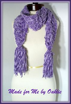 Lush Lavender scarf.. you can find this in my @Etsy! shop! @Anne  Hopfer