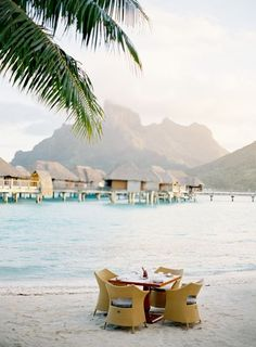 Bora Bora by Jose Villa | Her Couture Life www.hercouturelife.com