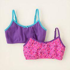 b28b65a64dd8d girl - sleep & underwear - dot training bras 2-pack | Children's  Clothing