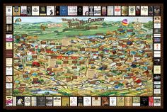 Texas Hill Country Wine Map