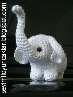 Amigurumi Baby Elephant Pattern by Denizmum.