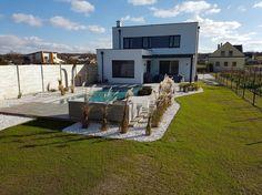 Patio, Outdoor Decor, Home Decor, Stone Fence, Pond, Natural Stones, Swim, Court Yard, Yard