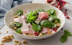 Preparazione Insalata invernale con prosciutto cotto, gorgonzola, melagrana e noci - Fase 4