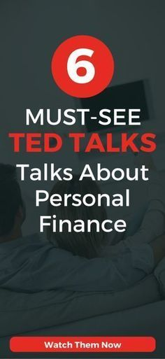 6 Must-See Inspirational TED Talks about personal finance, money management, and getting out of debt. #FinanceIdeas #FinanceStocks