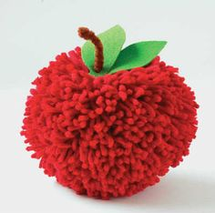 Crafty pom pom apples | 10 Perfect Pom Pom Crafts Part 2 - Tinyme Blog