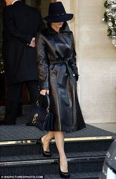 'Allo 'Allo, it's Victoria Beckham... taking style tips from Herr Flick