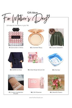 Gift guide | Mom | Mother's Day | Gifts for her | Beauty gifts | Fashion gifts | Self Care | gift from daughter | Gift for mother in law Best Anniversary Gifts, Gift Guide For Him, Waffle Knit, Mother Gifts, Special Gifts, Law, Unique Gifts, Gifts For Her, Daughter