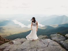 bride on a cliff