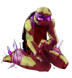 Damaged Donnie TMNT 2012 ;_____;