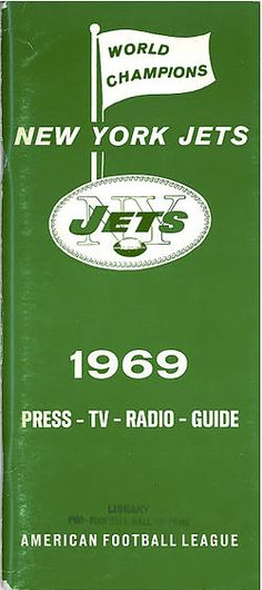1969 New York Jets Media Guide. Starting to think this will be the only time we see this...
