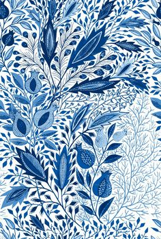 Eva the Hun blue pomegranate cloth design. Several other good ones on this site