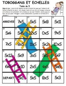 J'ai trouvé ce jeu sur ce site : first grade a la carte J'ai traduit la règle en français : elle se trouve en haut de la fiche. Seul bémol : ce jeu n'utilise que la table de 5. J'ai donc eu envie de