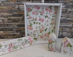 roses for the bathroom, reusing with decoupage Vintage-Roses decoupage und Wiederverwendung