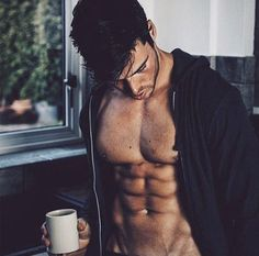 Image result for sexy men coffee