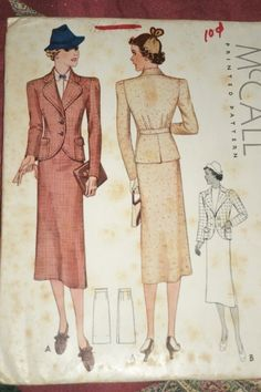 McCall 9193   ca. 1937 Two-Piece Suit