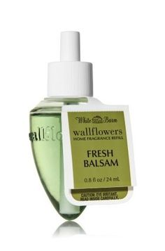 """White Barn Wallflowers® Fragrance Bulb """"Fresh Balsam"""" by Bath & Body Works. $6.99. Combine with Wallflowers fragrance plug, sold separately, to scent any room 24/7 with noticeable freshness for up to 8 weeks.. The easiest way to scent your home. Contains: 1 Home Fragrance Bulb (0.8 fl oz./24 mL total). Like evergreen woods on a clear fall morning, our refreshing blend of crisp eucalyptus, fir needles and cedarwood musk notes is an invigorating and timeless treasure."""