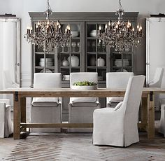Reclaimed wood table dining restoration hardware Ideas for 2019 Plywood Furniture, Dining Furniture, Furniture Design, Dining Room Hutch, Dining Room Design, Kitchen Dining, Dinning Table, Dining Rooms, Reclaimed Wood Dining Table