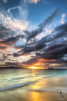 Sunset ~ Makena, Big Beach, Maui, Hawaii
