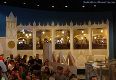 """There are a few tables in the Pinocchio Village Haus restaurant that overlook the """"it's a small world"""" loading area.  Fantasyland / Magic Kingdom / Disney World."""