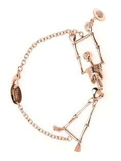 big sale 79f3d 30f4a Vivienne Westwood Brazalete Con Esqueleto - Stefania Mode - Farfetch.com  Calaveras, Anillos,