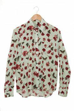 Butterfly rose mint shirt