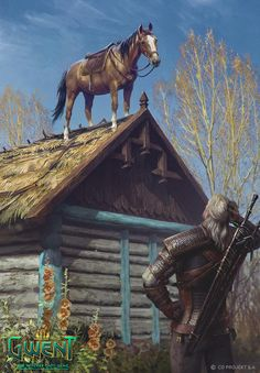 Roach is an official artwork for the world of The Witcher and the Witcher card game GWENT, video games created by CD PROJEKT RED. The Witcher Wild Hunt, The Witcher 3, Witcher Art, Fanart, Dungeons And Dragons, Witcher Wallpaper, Anime Pictures, Mundo Dos Games, Meme Comics