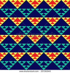 Find Tribal Seamless Colorful Geometric Pattern stock images in HD and millions of other royalty-free stock photos, illustrations and vectors in the Shutterstock collection. Tapestry Crochet Patterns, Crotchet Patterns, Bead Loom Patterns, Weaving Patterns, Cross Stitch Patterns, Diy Embroidery, Embroidery Patterns, Crochet Blanket Tutorial, Crochet Diagram