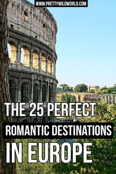 Interested to know what are the famous romantic destinations in Europe? Check this post out or pin for later!