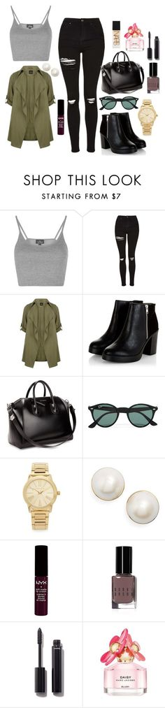 """Untitled #168"" by marr-neubauerova on Polyvore featuring Topshop, Givenchy, Ray-Ban, Michael Kors, Kate Spade, NYX, Bobbi Brown Cosmetics, Chanel, Marc Jacobs and NARS Cosmetics"