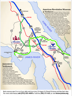 Jamestown Settlement Jamestown Settlement Map Directions