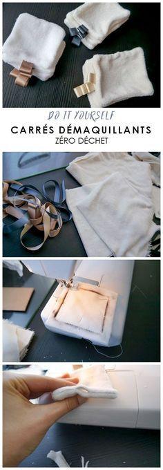 Tutoriel pour fabriquer soi-même ses carrés démaquillants réutilisables DIY coton démaquillant lavables et zéro déchet