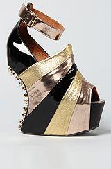 Jeffrey Campbell The Spike Rockstar Shoe in Rose Metallic Multi (Exclusive)