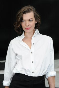 Milla Jovovich: Milla Jovovich grew out her hair this year, and she wore a stylish lob while it was transitioning into a longer style.
