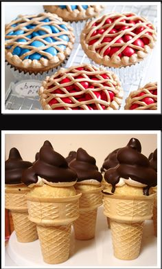 So cool! Cupcake icecream and M's Pie!!! I want them BOTH!!! :)