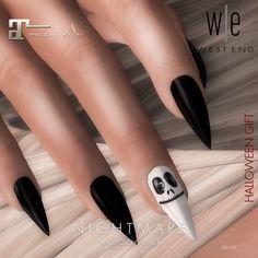 12841720b4b7   west end   Nails - Nightmare Nail Polish (Maitreya) Halloween Free Gift  Halloween inspired nail polish for Maitreya Mesh Body.