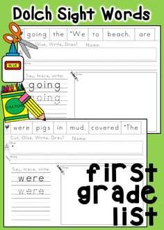 Your students will have fun learning their sight words and developing fine motor skills with these ready-to-go activities. They are perfect for centers or seat work!