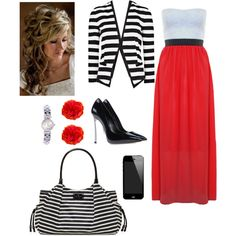A fashion look from June 2013 featuring sweetheart neckline dresses, striped blazer and casadei shoes. Browse and shop related looks.