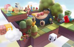 ArtStation - Nintendo In the Clouds, Janice Sung