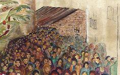 El burrito puede verse a apenas escasos metros del mural