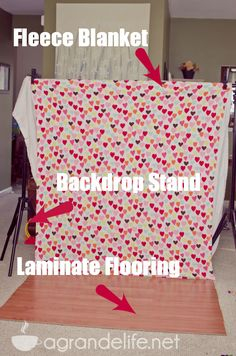 DIY Valentine's Day Photography Backdrop BRILLIANT! via @Stephanie Glover