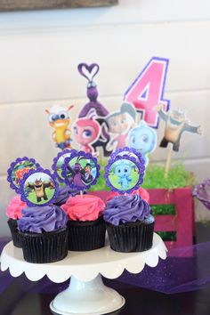Kate and mim mim birthday party cupcake toppers cake mimiloo party favors center pieces MolsDesigns