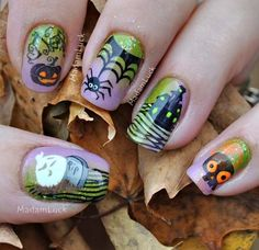 i did this manicure doing both nail art stamping and hand painting..stamp i used are from bundle monster