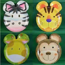 safari party plates - Google Search