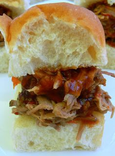 Recipe for Slow Cooker Sweet and Sour Hawaiian Pulled Pork Sliders - The spicy BBQ sauce on top really brought the whole thing together. In fact, the BBQ sauce would also be great on grilled chicken, pork chops or maybe even grilled salmon.