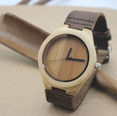 80964f7d3e3a76 Personalized Minimalist Engraved Wooden Watch Wedding Gift