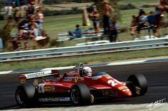 Didier Pironi, Ferrari 126C2, #28, (finished 9th), Canadian GP, at Circuit Gilles Villeneuve on June 13, 1982.