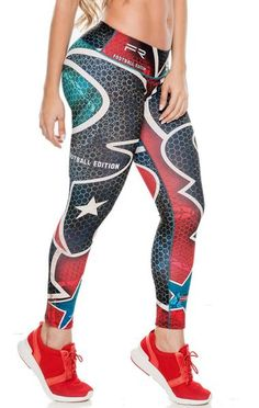 Shop our enormous selection of women's and men's athletic apparel. No more lumps and bumps or muffin tops! Tops For Leggings, Women's Leggings, Workout Clothes Cheap, Workout Clothing, Superhero Leggings, Athletic Outfits, Athletic Clothes, Athletic Gear, Houston Texans