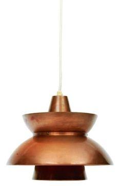 Jørn Utzon (via Jørn Utzon; Copper Ceiling Light for Louis Poulsen, c1960. | lighting)