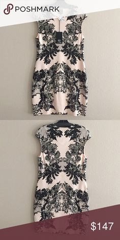 McQ Alexander McQueen print dress Cotton spandex blend soft pink and black FINAL PRICE no offers accepted McQ Alexander McQueen Dresses Midi